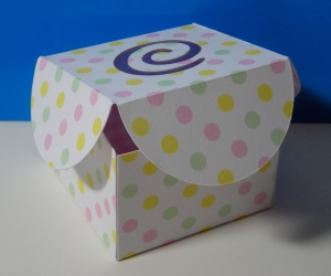 Swirl cutout box 2 1:2 inch base