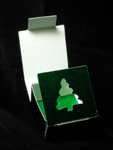 XMAS Tree tiny box with tab